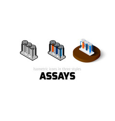 Assays icon in different style vector image