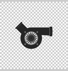 Automotive turbocharger icon isolated vector