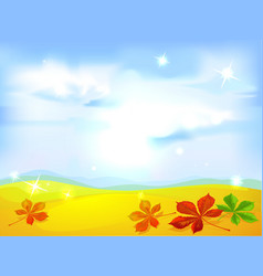 Autumn landscape background - vector