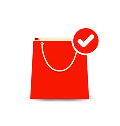 bag buy check paper shopping icon vector image