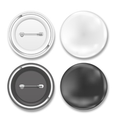 Black and white badges vector