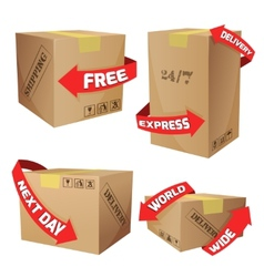 Boxes With Delivery Symbols vector
