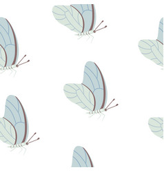 butterfly seamless pattern summer vector image