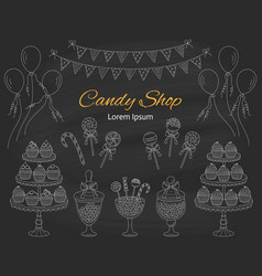 candy shop hand drawn vector image