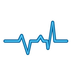 Cardio lifeline icon vector