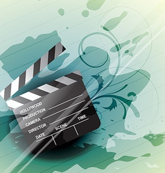 clapboard vector image