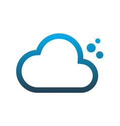 cloud computing data logo icon design vector image
