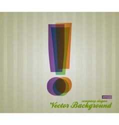 Color Transparency Symbol vector image
