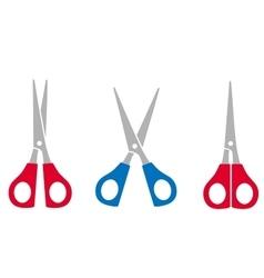 Colorful scissors set vector