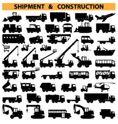 Commercial vehicles pictograms vector