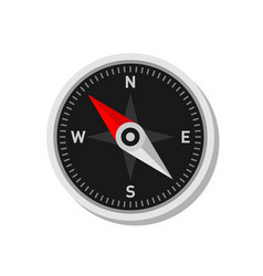 compass icon om white background flat style vector image