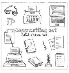 copywriting doodle set vector image