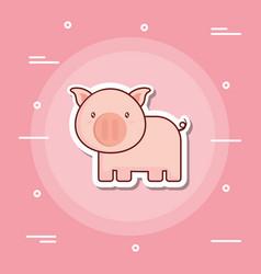 Cute pig icon image vector