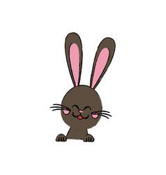 Cute rabbit easter spring celebration symbol vector