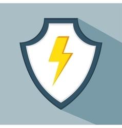 Data secure warning protection shield vector
