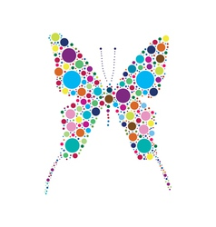 dotted butterfly vector image