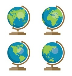 earth globes icons vector image vector image