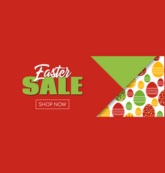 Easter sale banner shop now facebook event size vector