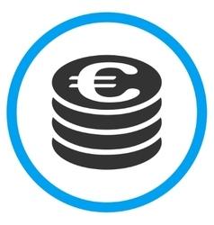 Euro Coins Column Rounded Icon vector