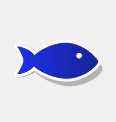 Fish sign new year bluish vector