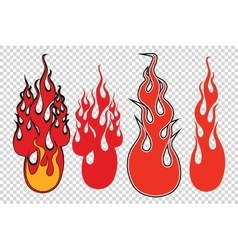 Flame fire background to simulate transparency vector image