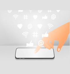 flat social media networks concept vector image