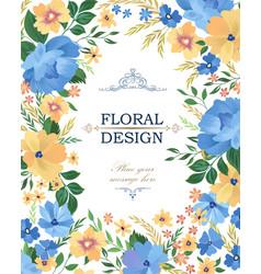 Floral frame pattern flower border background vector