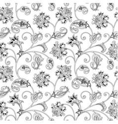 Floral ornamental seamless pattern flourish vector