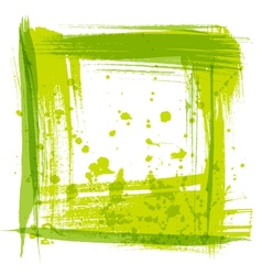 frame texture strokes and splashes of paint vector image