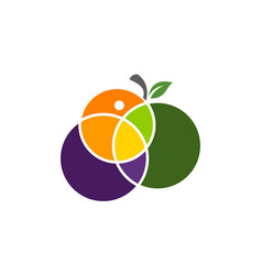 fruit mix logo design template vector image