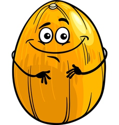 funny melon fruit cartoon vector image