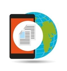 global document file social network vector image