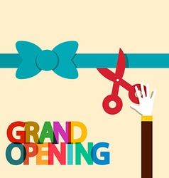 Grand Opening Flat Design Retro vector image