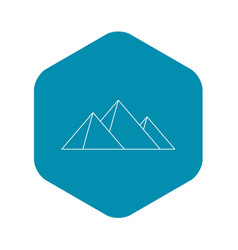 Great pyramids icon outline style vector