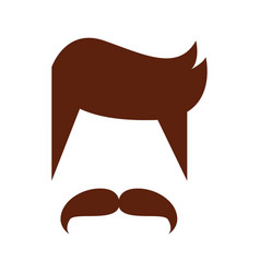 hair hipster style model vector image
