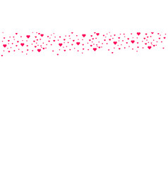heart shape pink and red confetti vector image