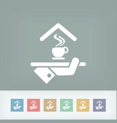 Hotel icon breakfast vector