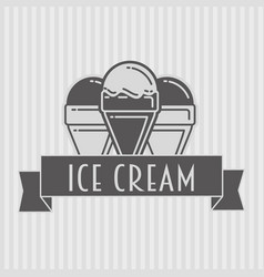 ice cream design concept of badge logo or label vector image
