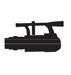 icon of black camera on a white vector image