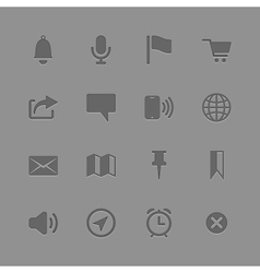 Icons collection for Mobile Applications vector image
