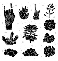 isolated black silhouettes vector image