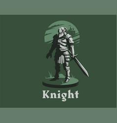 Knight armor sword vector