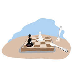 meal is over vector image