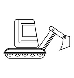 Mini excavator icon outline vector