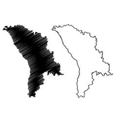 moldova map vector image
