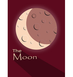 moon with shadow an text vector image