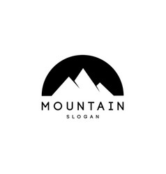 mountains peaks logo designs vector image
