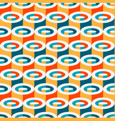 multicolor geometric cylindrical seamless pattern vector image