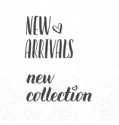 New arrivals and new collection signs with vector