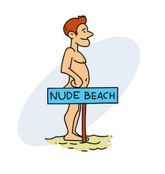 nudist man vector image